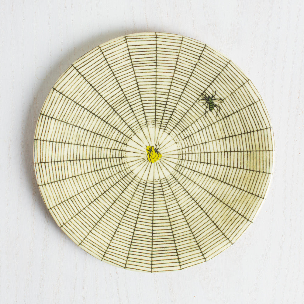 spider web melamine side plate-kitchen & dining - dinnerware-john derian-Default Title-k colette