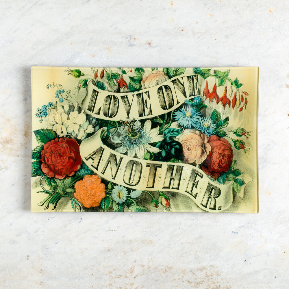 love one another letter tray-art & decor - decoupage-john derian-Default Title-k colette