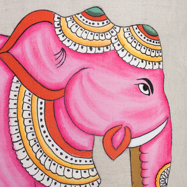 pink elephant pillow-bed & bath - art & decor - pillows - heirloom-john robshaw-k colette