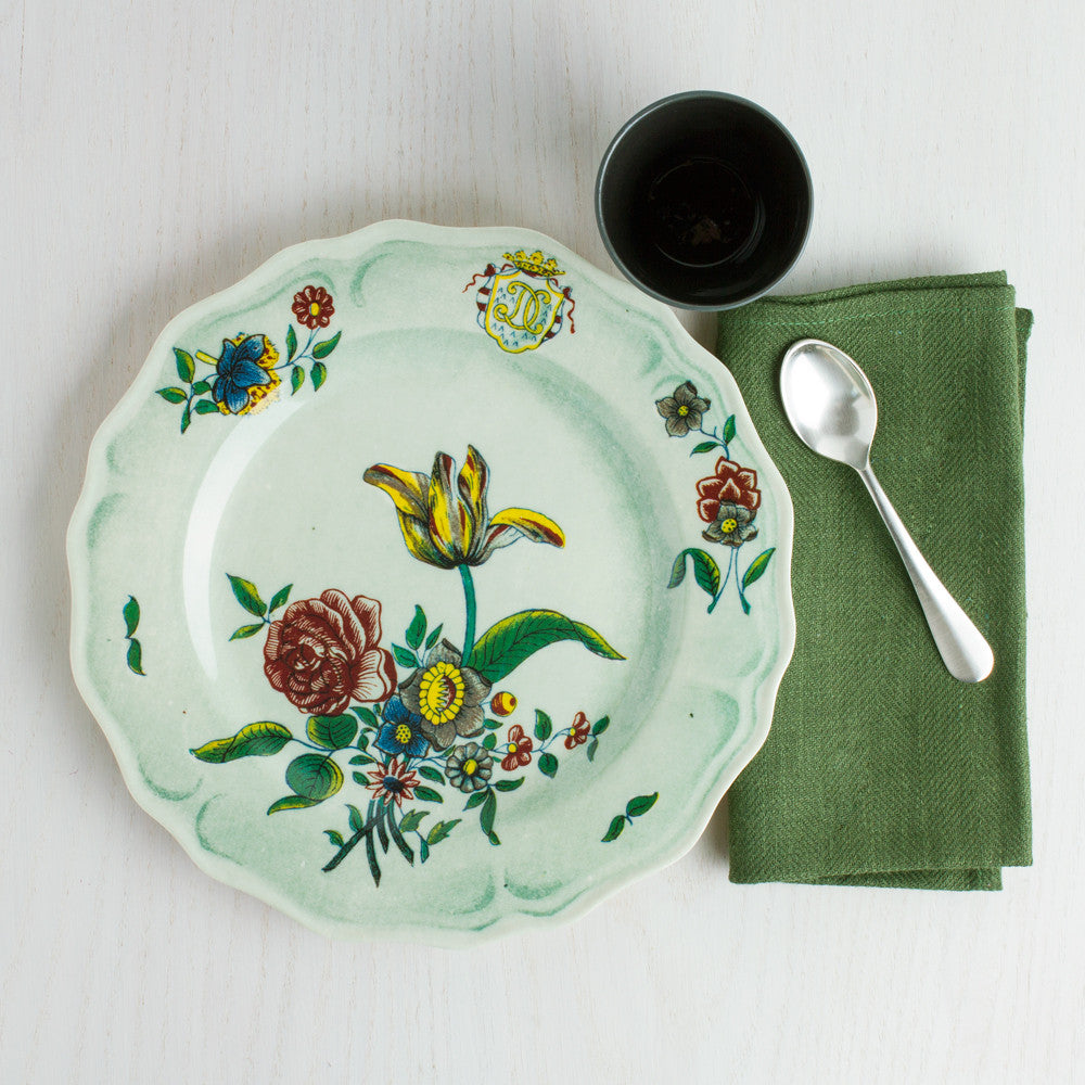 faience fleurs isolees melamine dinner plate-kitchen & dining - dinnerware-john derian-Default Title-k colette