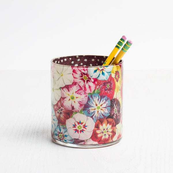 multi-phlox desk cup-art & decor - decoupage - desktop - utility & storage-john derian-Default Title-k colette