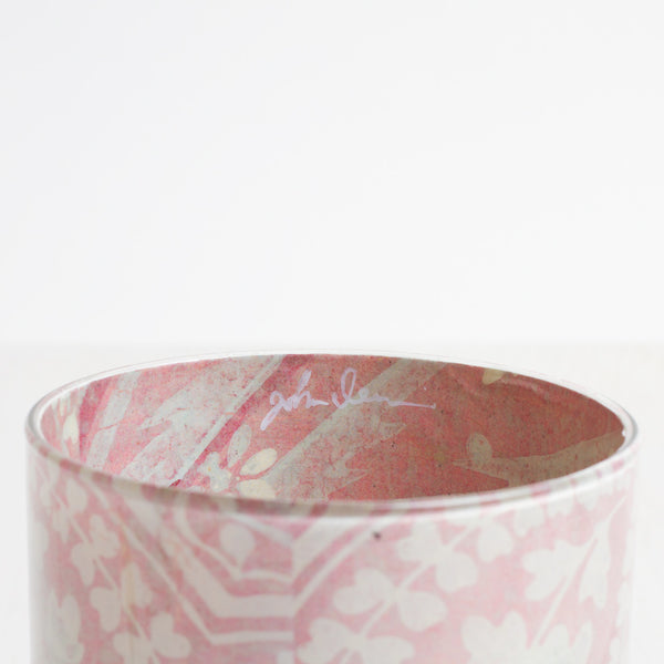 pink lace desk cup-art & decor - decoupage - desktop - utility & storage-john derian-Default Title-k colette