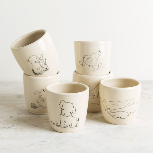 baby animals tea cup-baby - nursery decor - kitchen & dining-kata golda-k colette