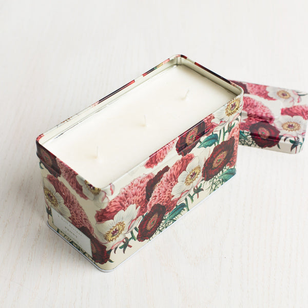peony triple wick tin candle-apothecary - candles - stylish-k hall designs-k colette