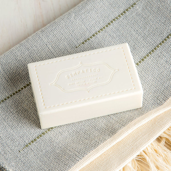 white flower bar soap-apothecary - soaps & lotions-simpatico by k hall designs-k colette