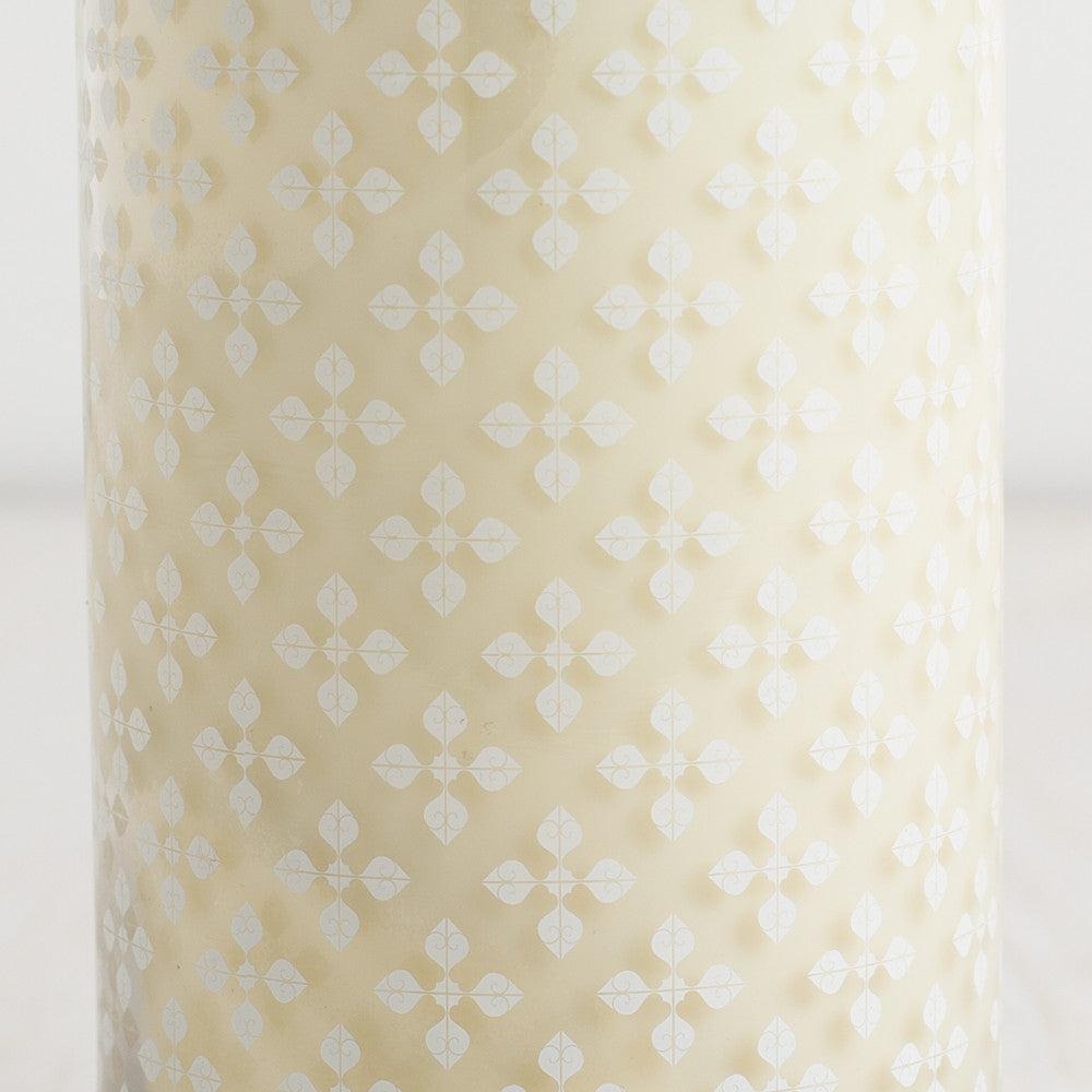 washed cotton decorative candle-candles - candles-k hall designs-k colette