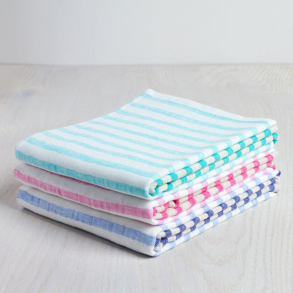 linen border hand towel-apothecary - bath towels-yoshii by morihata-blue/green-k colette