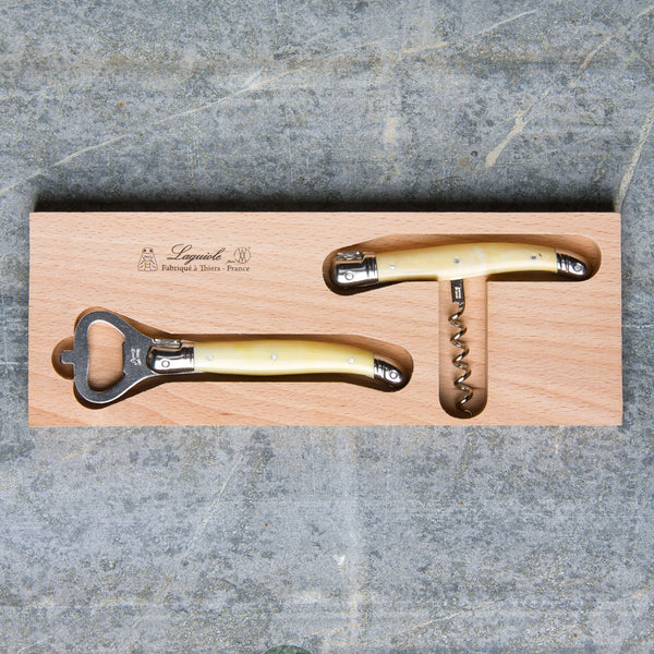 bottle opener & corkscrew set-kitchen & dining - bar & drinkware - love-laguiole-facone corne-k colette