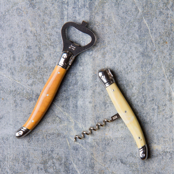 bottle opener & corkscrew set-kitchen & dining - bar & drinkware-laguiole-Facon Corne-k colette