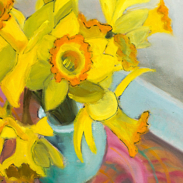 daffodils by leslie anderson-art & decor - paintings & prints-leslie anderson-k colette