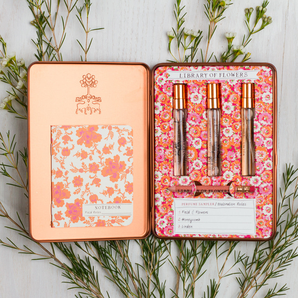 paper, cotton and string fragrance sampler-apothecary - fragrance-library of flowers-Default Title-k colette