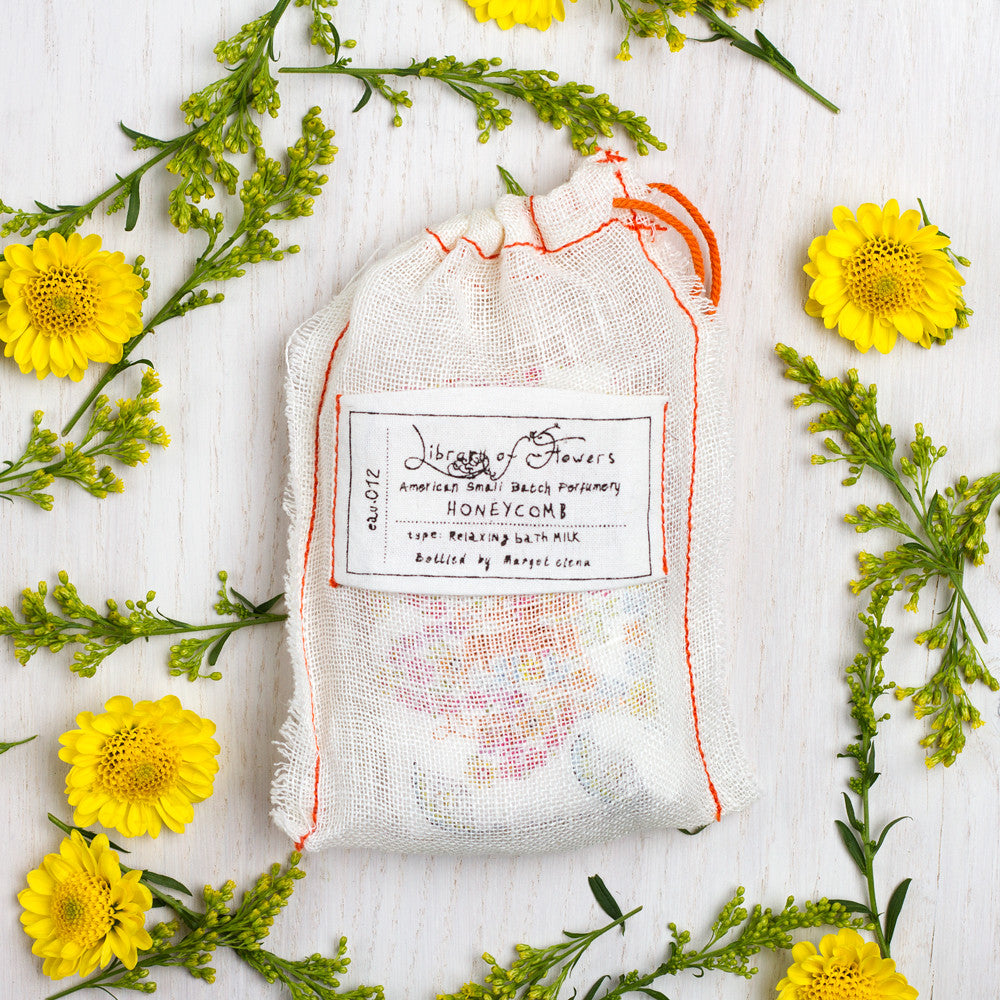 honeycomb powdered bath milk-apothecary - oils & elixirs-library of flowers-Default Title-k colette