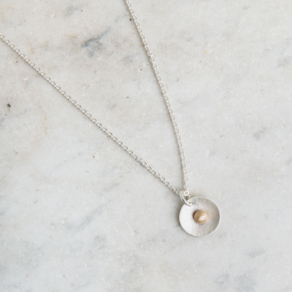 tiny dish and gold dot necklace-accessories - jewelry-lisa gent jewelry-k colette