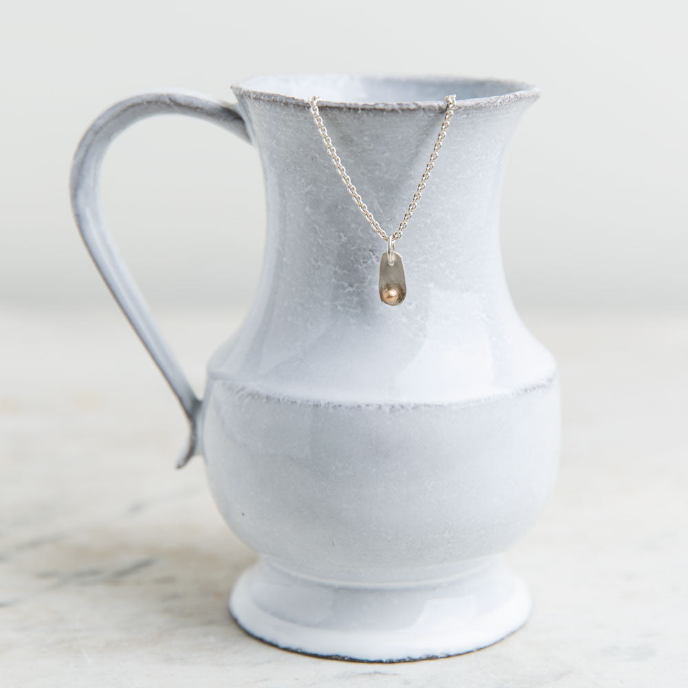 tiny silver and gold friendship necklace-accessories - jewelry - maine-lisa gent jewelry-k colette