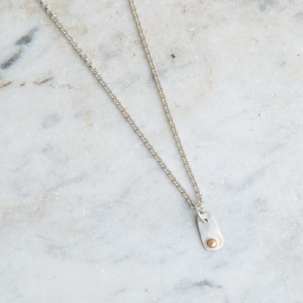 tiny silver and gold friendship necklace-accessories - jewelry-lisa gent jewelry-k colette