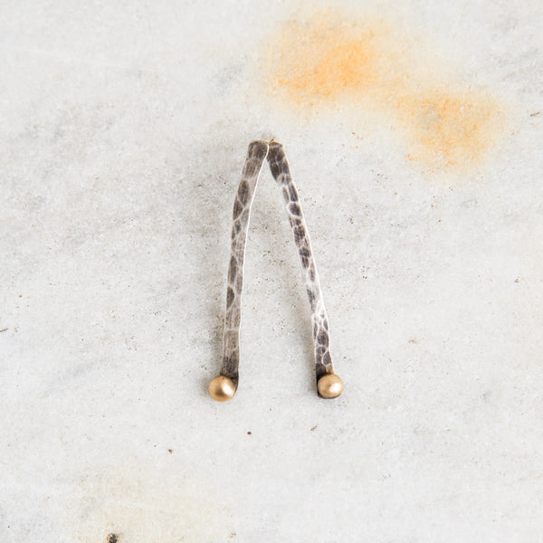oxidized winter twig & gold dot earrings-accessories - jewelry - maine-lisa gent jewelry-k colette