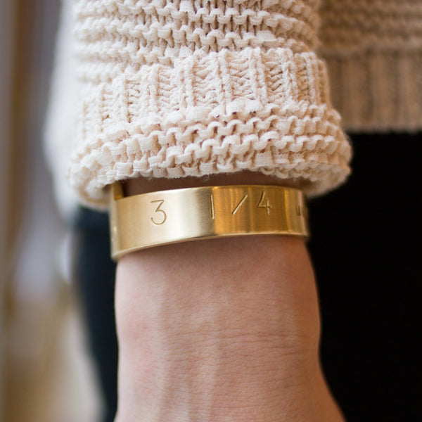 "the perfect catch cuff-accessories - jewelry-watts in maine-extra large (7"")-brass-k colette"