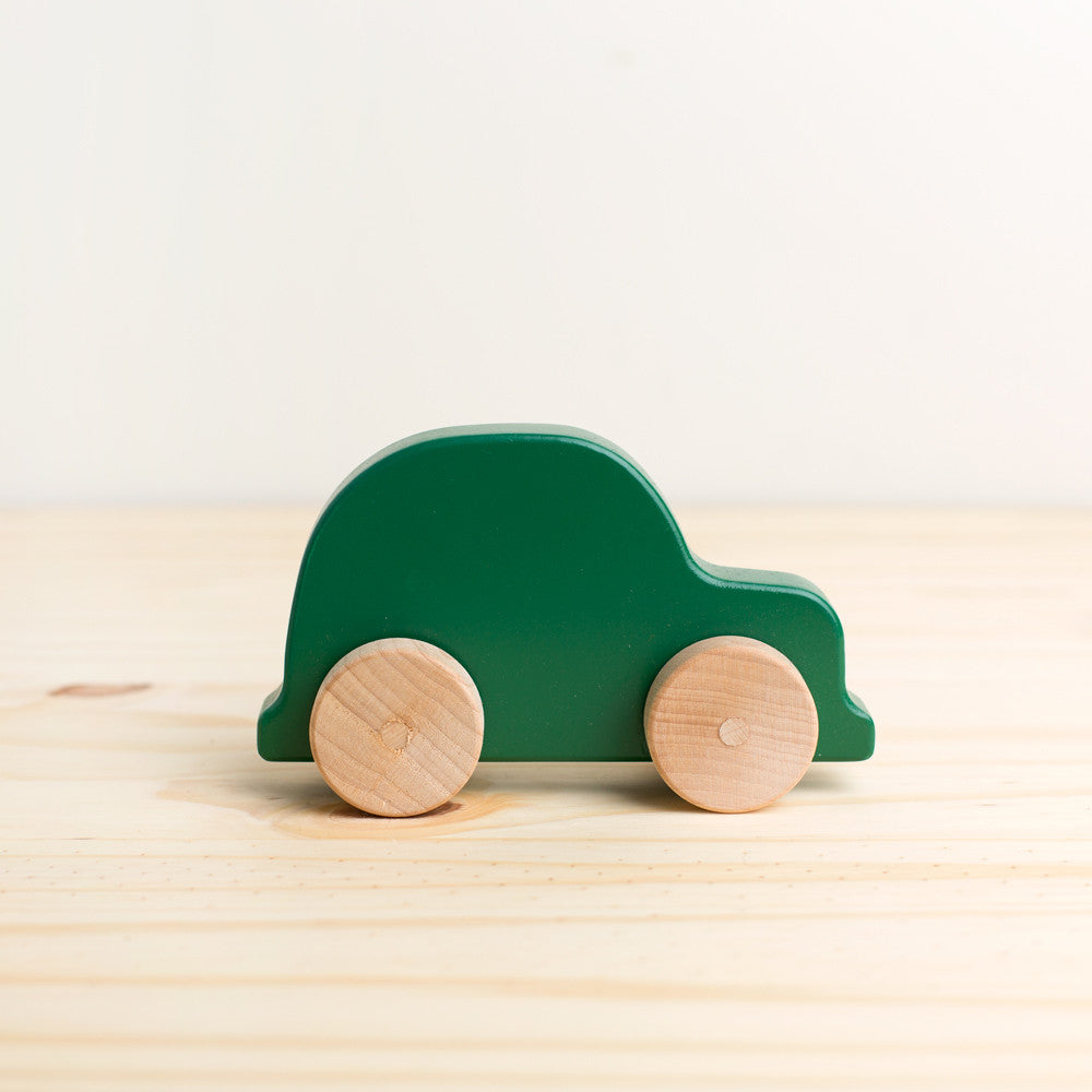 mini vehicle wooden push toy-baby - toys-manny & simon-Green-k colette