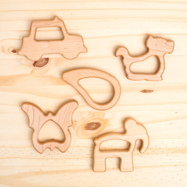 wooden teether-baby - toys-manny & simon-Butterfly-k colette