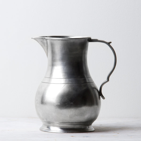 pewter luciano pitcher-kitchen & dining - serveware - love-match-k colette