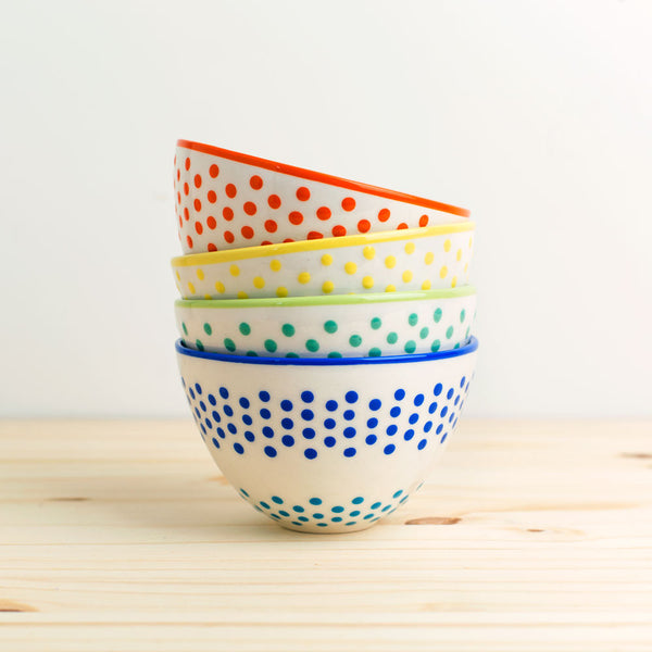 dots latte bowl-kitchen & dining - dinnerware-potterseed-blue-k colette