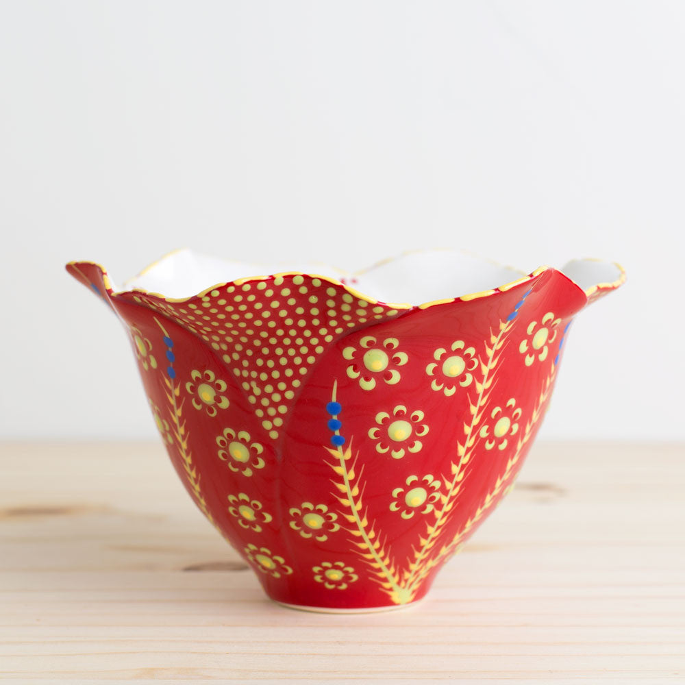 tulip bowl-kitchen & dining - dinnerware-potterseed-Red-k colette
