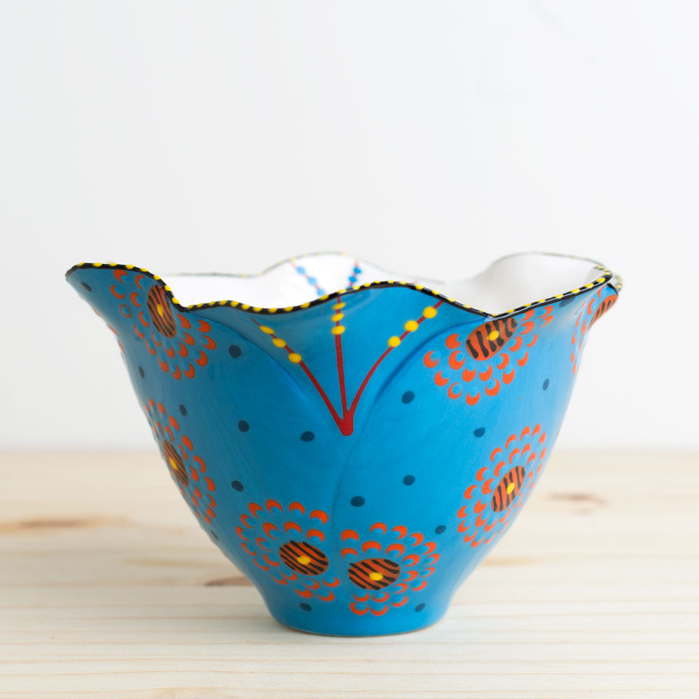 tulip bowl-kitchen & dining - dinnerware-potterseed-Blue-k colette