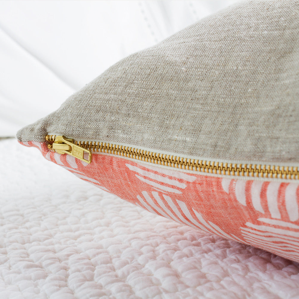 striped circles pillow, tangerine-bed & bath - decor - pillows-rebecca atwood-k colette