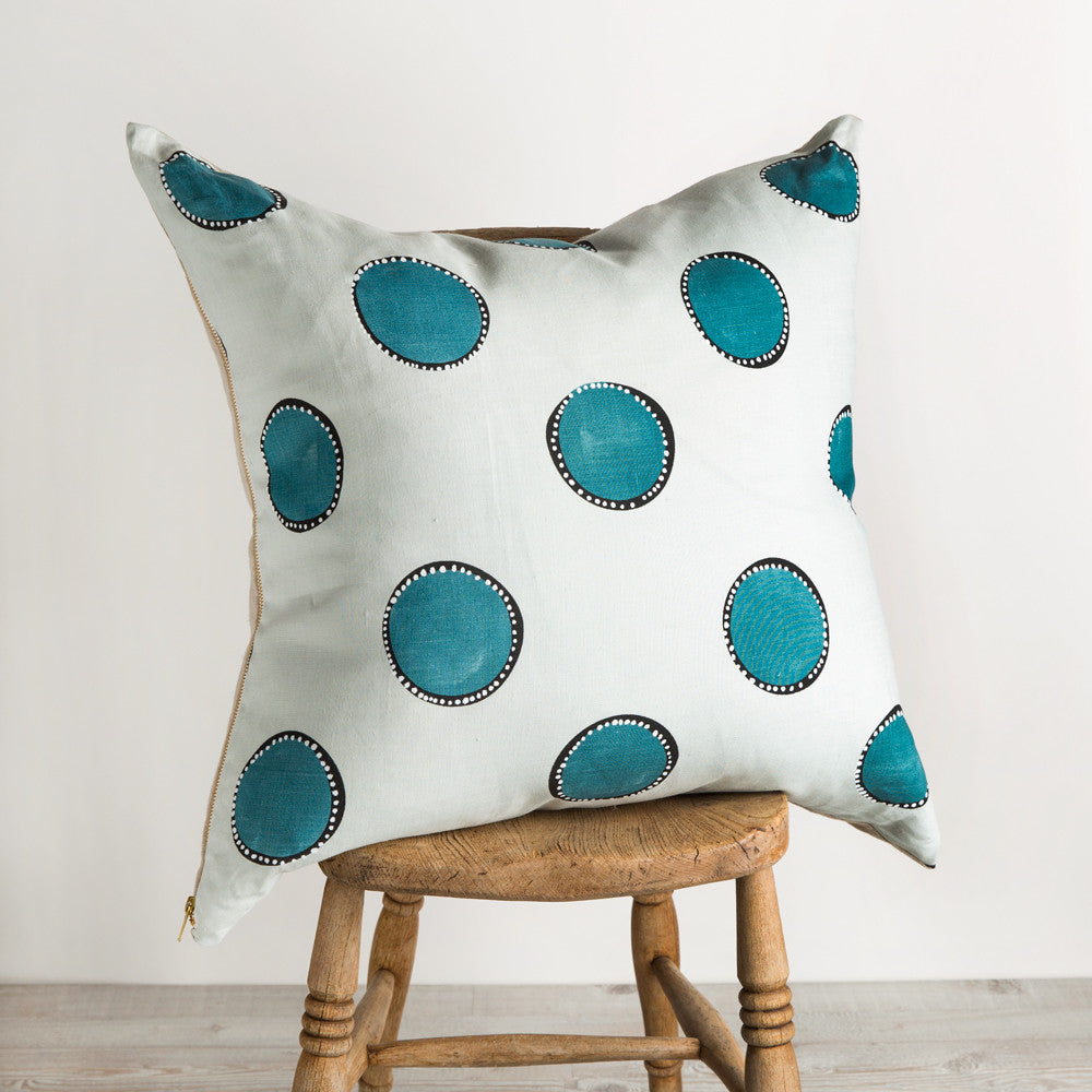 dotted circles square pillow-textiles - pillows-rebecca atwood-Default Title-k colette