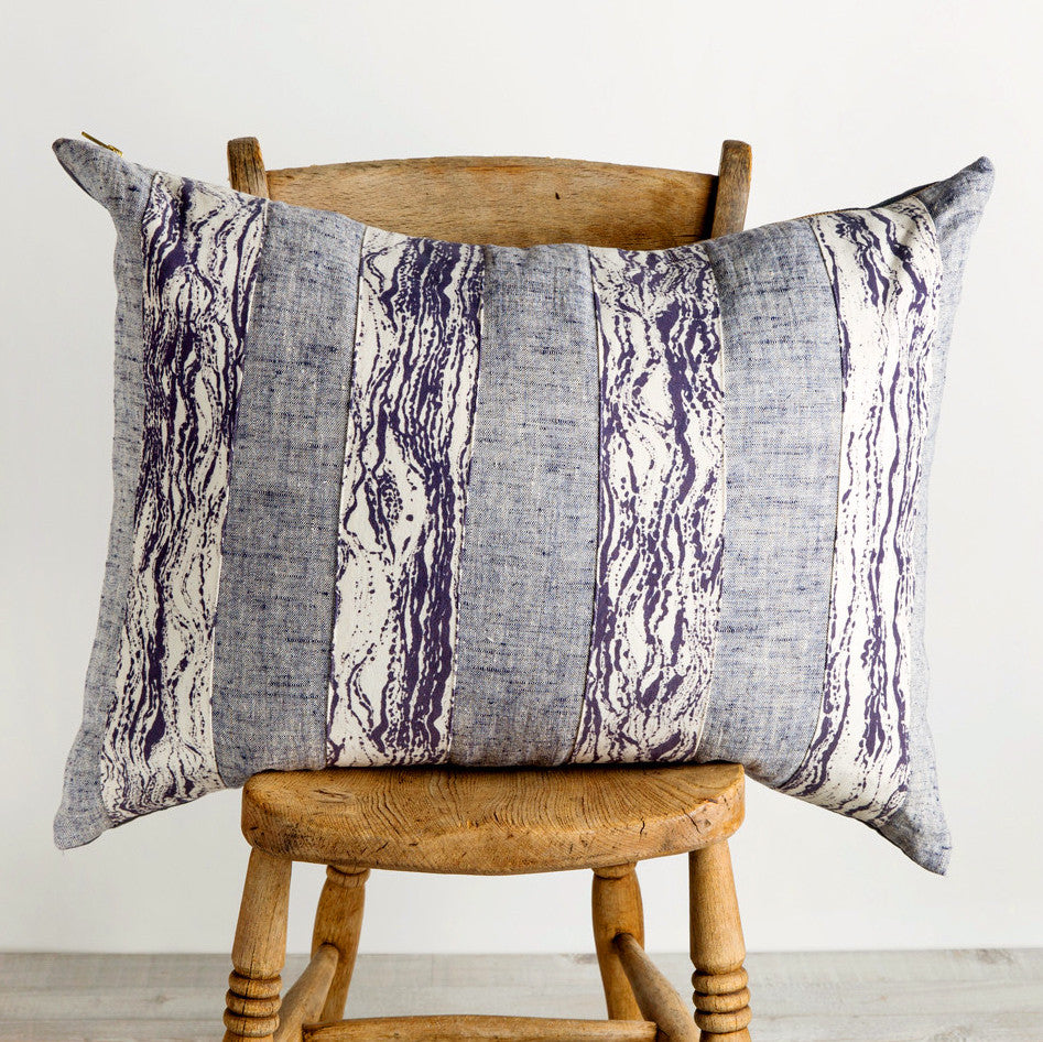 waves striped patch, one of a kind pillow-bed & bath - decor - pillows-rebecca atwood-k colette