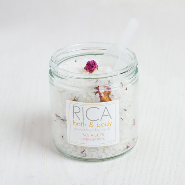 siesta salts-apothecary - salts & scrubs - special-rica bath & body-k colette
