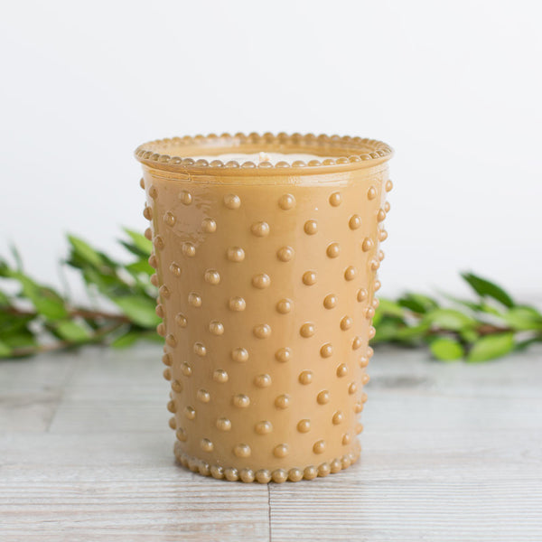 hobnail candle, caramel sea salt-candles - candles-simpatico by k hall designs-Default-k colette