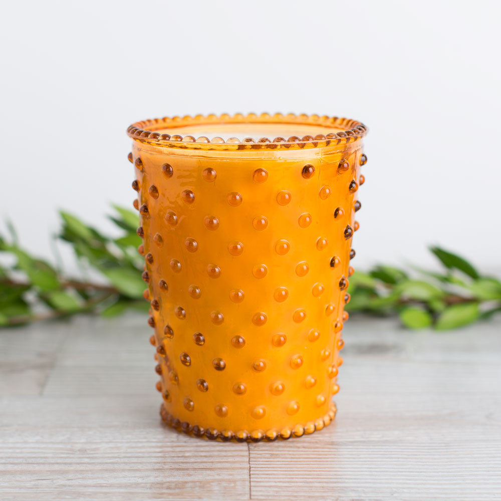 hobnail candle, pumpkin and clove-art & decor - apothecary - candles - holiday-simpatico by k hall designs-k colette