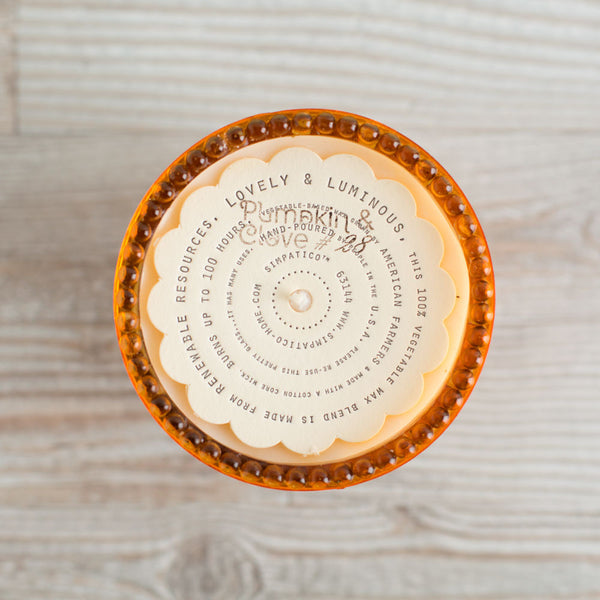 hobnail candle, pumpkin and clove-apothecary - candles-simpatico by k hall designs-k colette