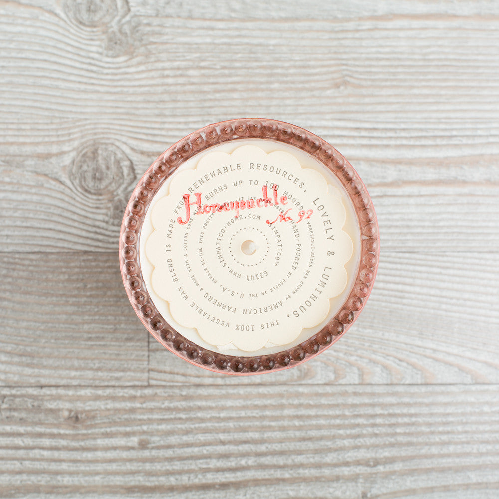hobnail candle, honeysuckle-art & decor - apothecary - candles-simpatico by k hall designs-k colette