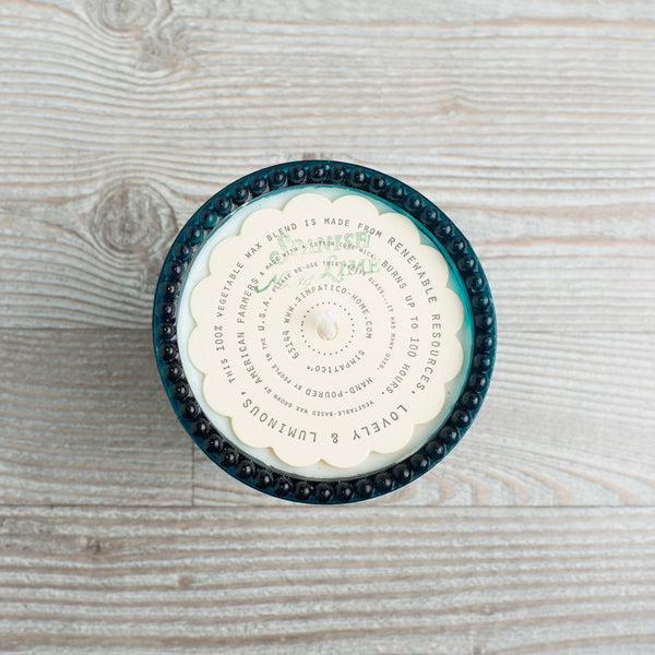 hobnail candle, spanish lime-apothecary - candles-simpatico by k hall designs-k colette