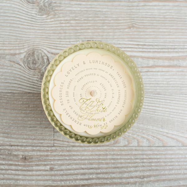 hobnail candle, white flower-art & decor - apothecary - candles-simpatico by k hall designs-k colette