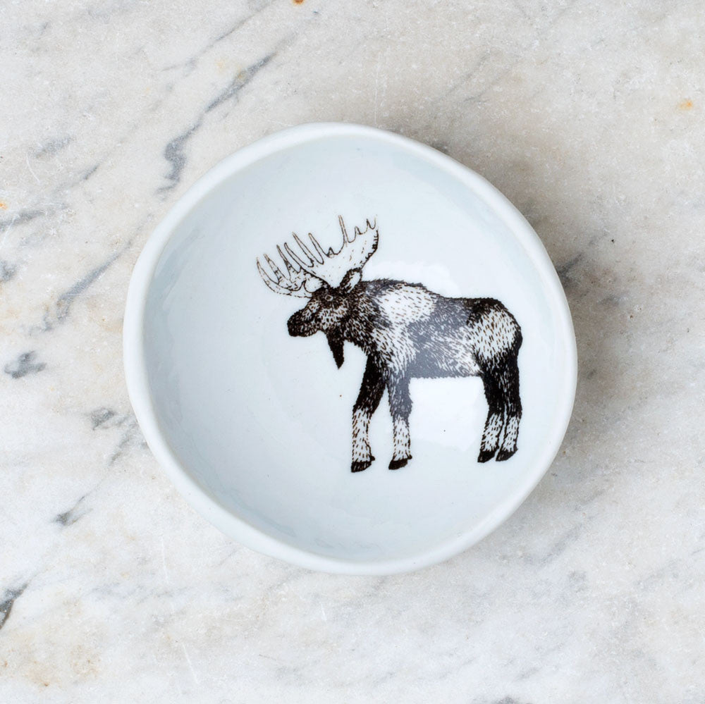 wood grain round dish-art & decor - decorative objects - kitchen & dining - serveware-skt ceramics-moose-k colette