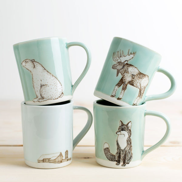 illustrated mug-kitchen & dining - bar & drinkware-skt ceramics-penguin partners-k colette