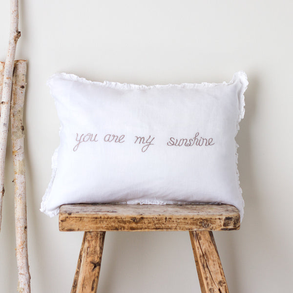 you are my sunshine linen boudoir pillow-bed & bath - decor - pillows-taylor linens-k colette
