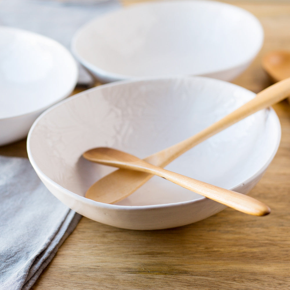 white pebble salad bowl-kitchen & dining - serveware-wonki ware-Default-k colette