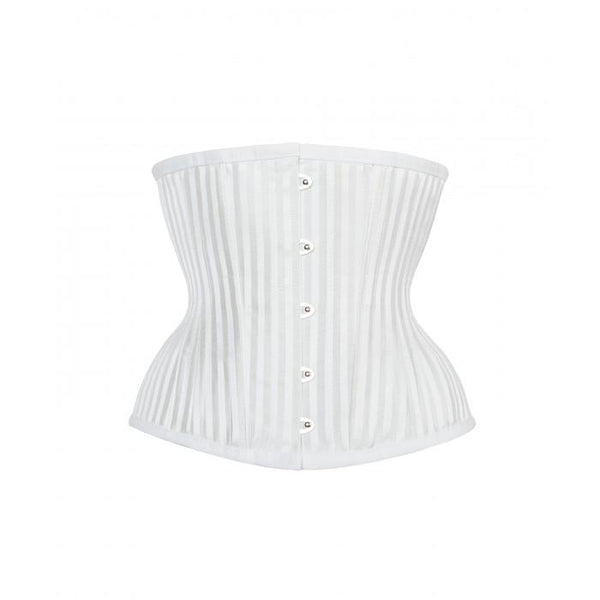 Preston White Striped Underbust With Hip Gores