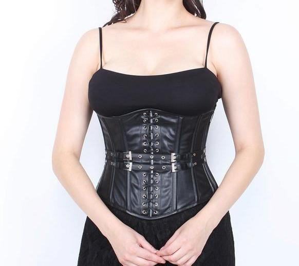 Adalyn Faux Leather Gothic Underbust Corset