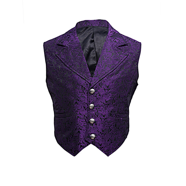 Gabi Gothic Purple Waist Coat