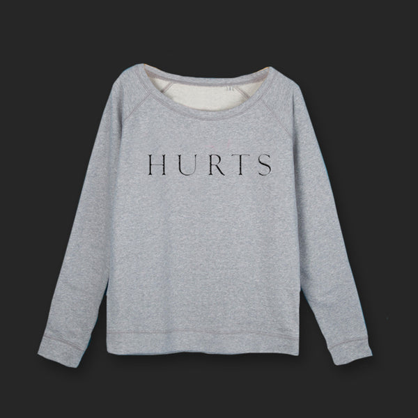 GIRLS EMBROIDERED LOGO GREY SWEATSHIRT