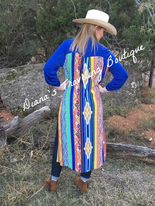 Western Multi-Colored Duster