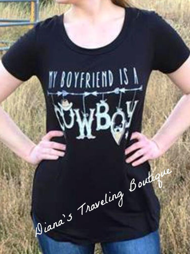 My Boyfriend is a Cowboy Tee