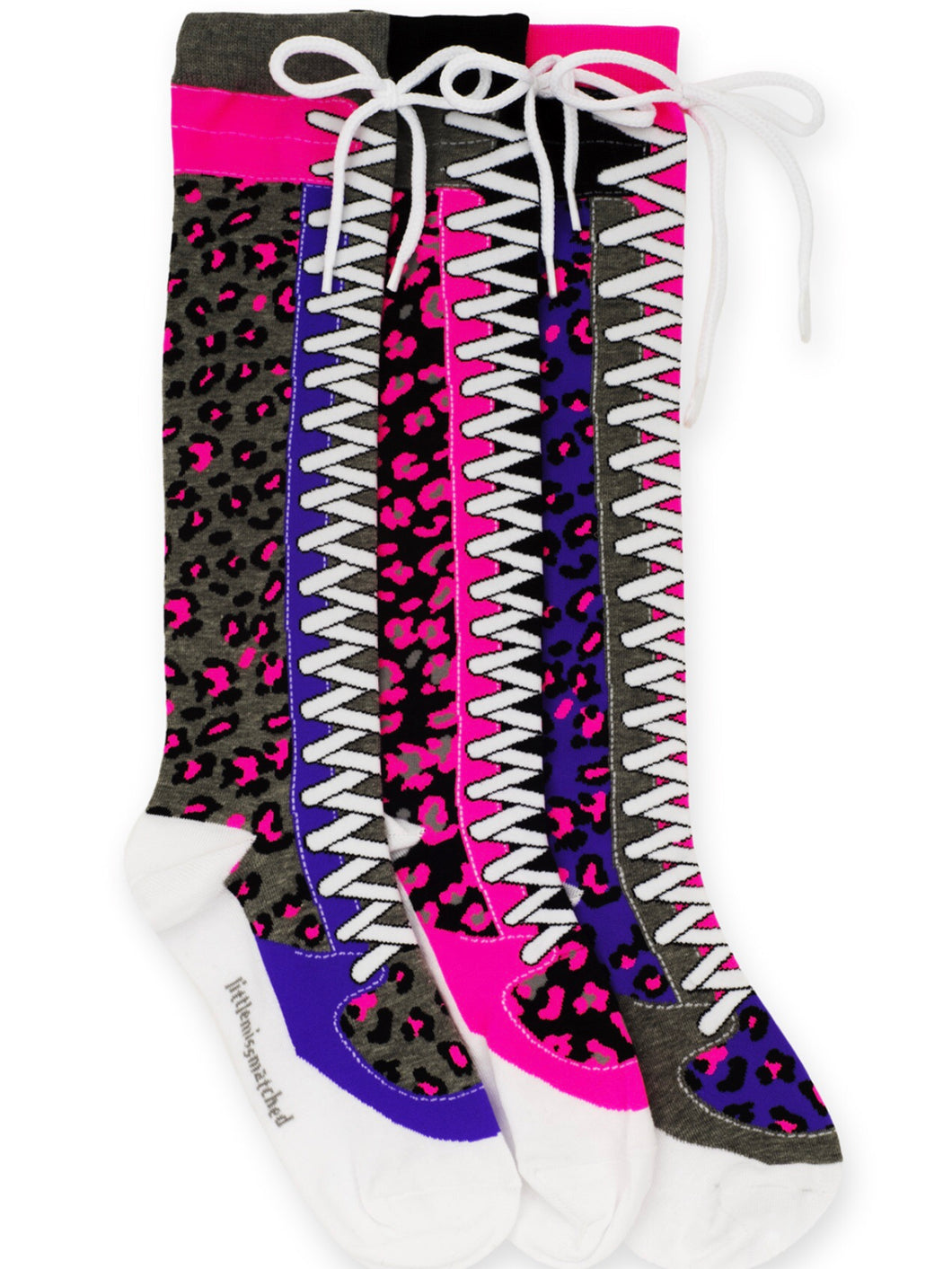 Cheetah Knee High Socks with Laces