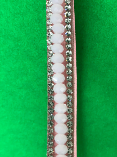 Long Pink Chrystal And Rhinestone Keychain