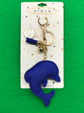 Sparkly Puffy Dolphin Key Chain